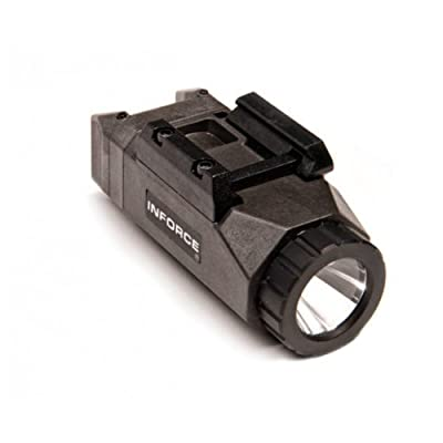 InForce APL Pistol Mounted Light, Black Body, Constant/Momentary White Light., Black, INF-APL-B-W from INFORCE