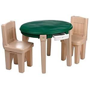 Amazon com step2 lifestyle dining room table amp chairs set toys amp games