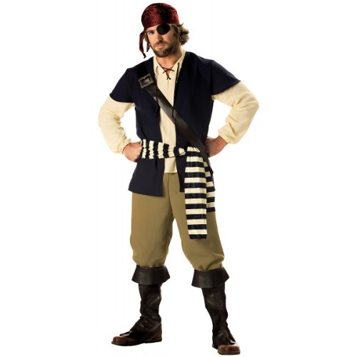 Pirate Rogue Costume - Large - Chest Size 42-44