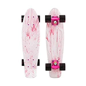 "Penny Limited Edition Plastic Skateboard Marble White/Pink/Black 22"" from Penny Skateboards"