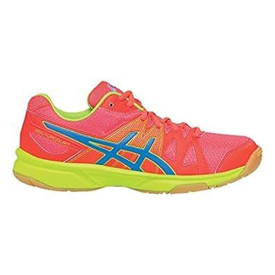 ASICS Women's ASICS Upcourt Indoor Court Shoe, Diva Pink/Methyl Blue/Lime, 5 M US