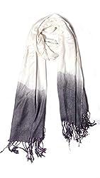 Anuze Fashions Tie Dye White & Grey Coloured Design Stole