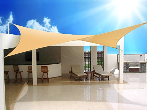 GreeenBlue - Toldo para jardín Vela de sombra cuadrado 3,6 x 3,6 metros Impermeable