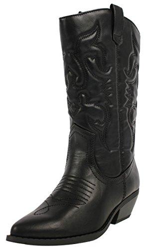Soda Reno-S Western Boots,9 B(M) Us,Black