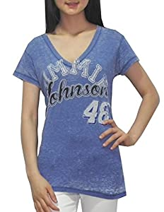 NASCAR Jimmie Johnson #48 Ladies V-Neck T-Shirt (Vintage Look) by NASCAR