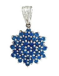 Carillon India Neon Apattite Pendant With 18 Inch Silver Chain 925 Silver Necklace Pendent