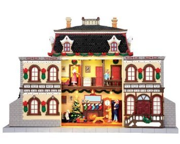 Lemax Facade 6am Christmas Morning With Adaptor Reviews