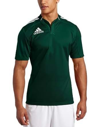 adidas Men's Rugby Teamwear 3 Stripe Jersey, Green/White, S