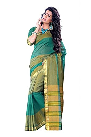 ISHIN Cotton Multicolor Sarees Vidhisha Checks available at Amazon for Rs.1999