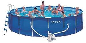 Intex 56949fr jeu d 39 eau kit piscine tubulaire 4m57 for Chauffage piscine intex amazon