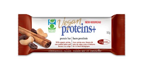 Vegan proteins+ Bar -Cinnamon Raisin (50g) Brand: Genuine Health