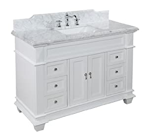 48 inch bathroom vanity carrara white includes white cabinet