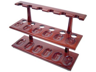 Tobacco Pipe Stand Furniture 2 Tier Rack for 12 Pipe Stand