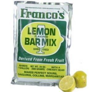 Cocktail Mix Franco's Lemon Bar Mix 6 Oz.single Pouch/ 1 Quart (Bartenders Sour Mix compare prices)