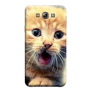 Desicase Samsung E7 Wow Cat 3D Matte Finishing Printed Designer Hard Back Case Cover (Multicolor)