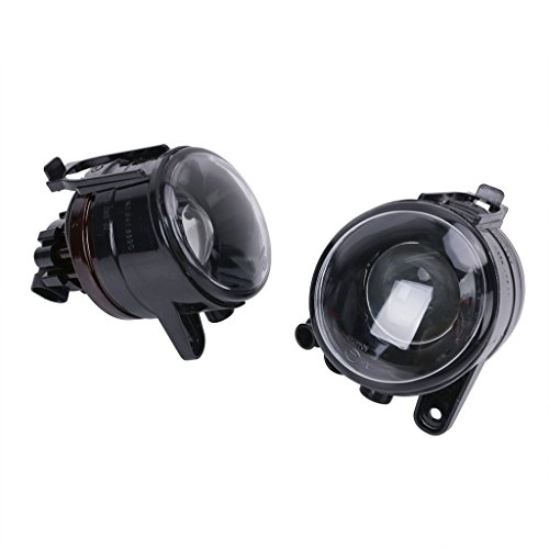 DGI MART Clear Glass Convex Lens Front Fog Light Driving Lamp for VW Rabbit Mk5 Golf (Vw Golf Mk5 Fog Lights compare prices)