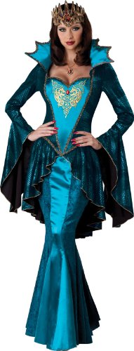 InCharacter Costumes Women's Medieval Queen Costume, Turquoise, Medium (Royal Empress Adult Costume)