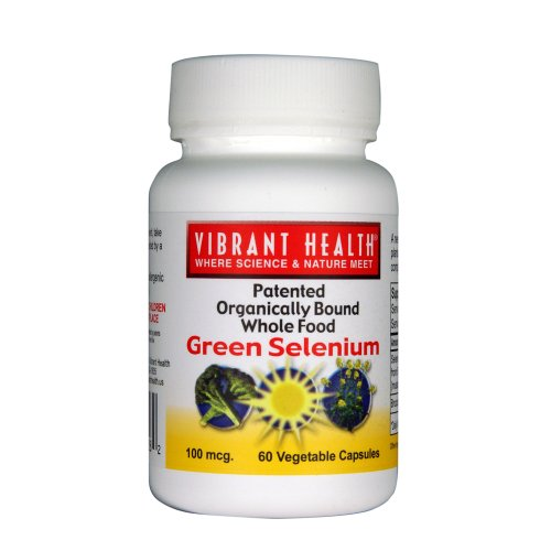 Vibrant Health Green Selenium, 100 Mcg, Vegicaps, 60-Count