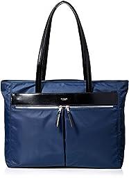 Knomo Luggage Mayfair Nylon Tip Zip 15-inch Travel Totes, Navy