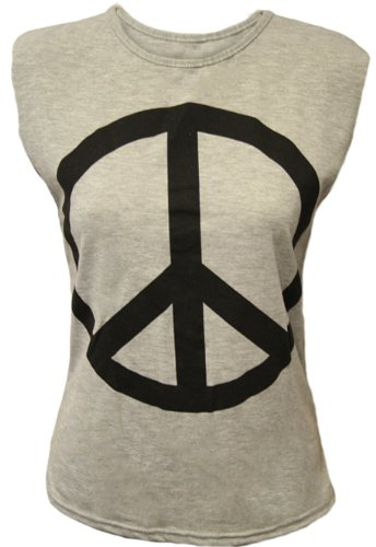 Ladies Peace Sleeveless Stretch Print Casual