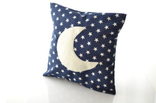 MyOwnCastle Kuschelkissen Sternchen Mond Blau 20x20cm