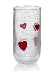 Heart Hi Ball Glass