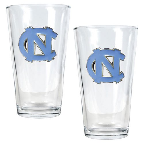Ncaa North Carolina Tar Heels Two Piece Pint Ale Glass Set