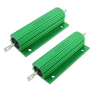 Pcs Chasis Mounted Green Aluminum Clad Wirewound Resistors 100W 45