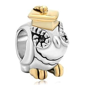 Pugster 22k Gold Plated Silver Tone King Crown Frog Prince Animal Bead Charm Fit Pandora Chamilia Biagi Charm Bracelet