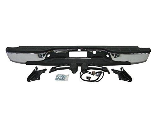 Streetnshow 99-06 Silverado Fleetside 1500 Rear Step Bumper Chrome w/ Brackets Light Kit Bolts Bar (Rear Bumper Lights compare prices)