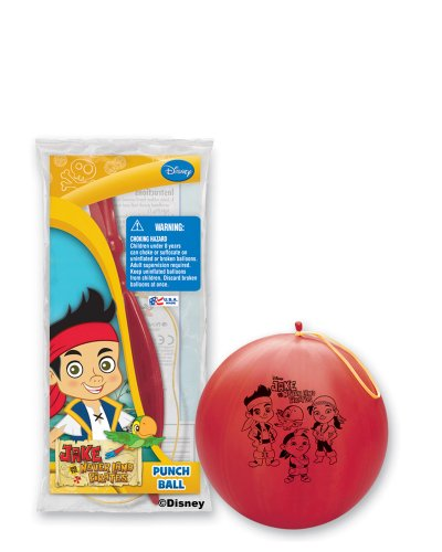 Pioneer National Latex Jake and The Never Land Pirates Punch Balls, Assorted, 6-Piece