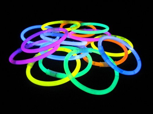 50 x UV Neon Premium Glow Sticks