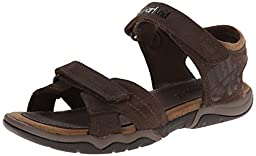 Timberland Oak Bluffs 2 Strap Dress Sandal (Big Kid),Dark Brown,4 M US Big Kid