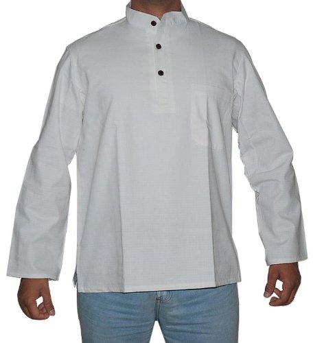 Designer Mens Casual Cotton Short Boho Kurta Indian Dress Size L