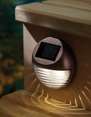 Wall Mounted Deck Lights : Moonrays 95027 Solar Deck Light Wall Mount Sconce, Round New eBay
