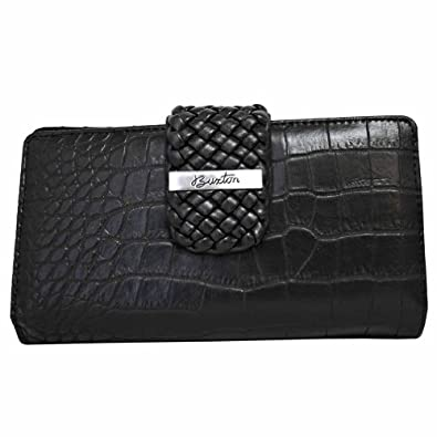 Buxton Croco Super Wallet BLACK