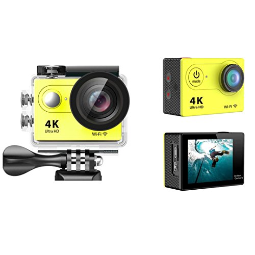 Sport Camera, TONSEE Waterproof H9 Ultra HD 4K WiFi 2.0 Inch Sport Camera Video Camcorder - Yellow (High Speed Camera 5000 Fps compare prices)