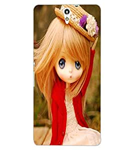 ColourCraft Cute Doll Design Back Case Cover for SONY XPERIA C5 ULTRA