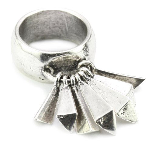 Low Luv by Erin Wasson Silver Plated Feather Ring, Size 6
