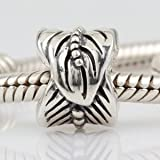 Feather Authentic 925 Sterling Silver Bead Fits Pandora Chamilia Biagi Troll Charms Europen Style Bracelets