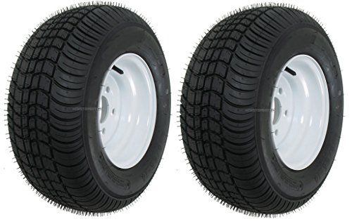 Two Trailer Tires & Rims 20.5 8 10 205/65-10 20.5/8-10 10