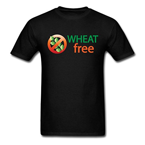 Best Quality Custom Wonderful cute Men's wheat free logo T-Shirts Black XXL (Pics Of Wh compare prices)
