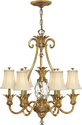 Antique Pineapple Chandelier Plantation 6 Light