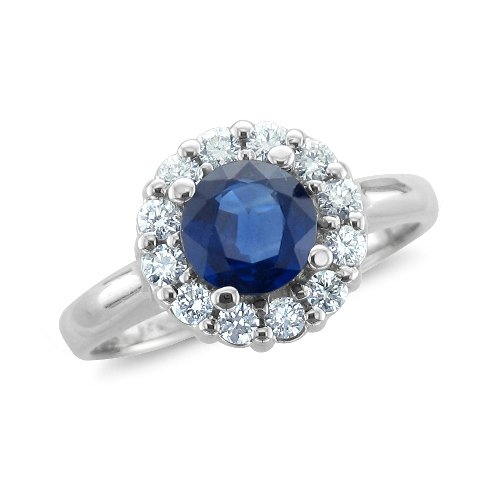 double halo Sapphire Engagement Rings