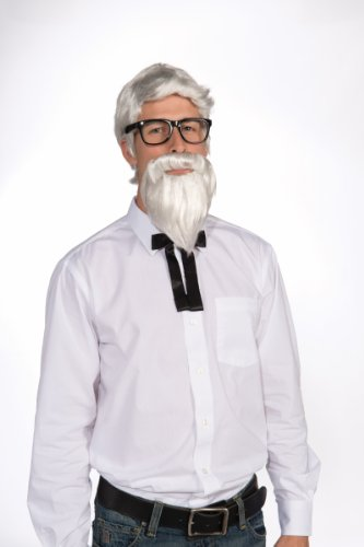 Southern Colonel White Costume Wig & Beard Set Adult