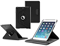 Ionic 2014 Apple iPad Mini with Retina Display / Apple iPad Mini 2 Rotating Stand Leather Case Tablet 4G LTE (Black) by CrazyOnDigital