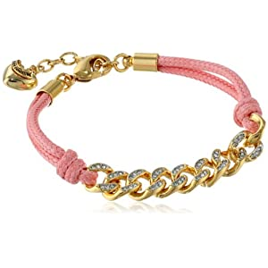 Juicy Couture Summer Pink Chain Link Friendship Bracelet