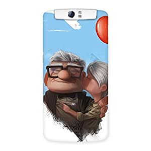 Ajay Enterprises Extant Old Cute Couple Back Case Cover for Oppo N1