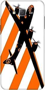 Snoogg Orange Smoke Plan 2509 Designer Protective Back Case Cover For Samsung J7