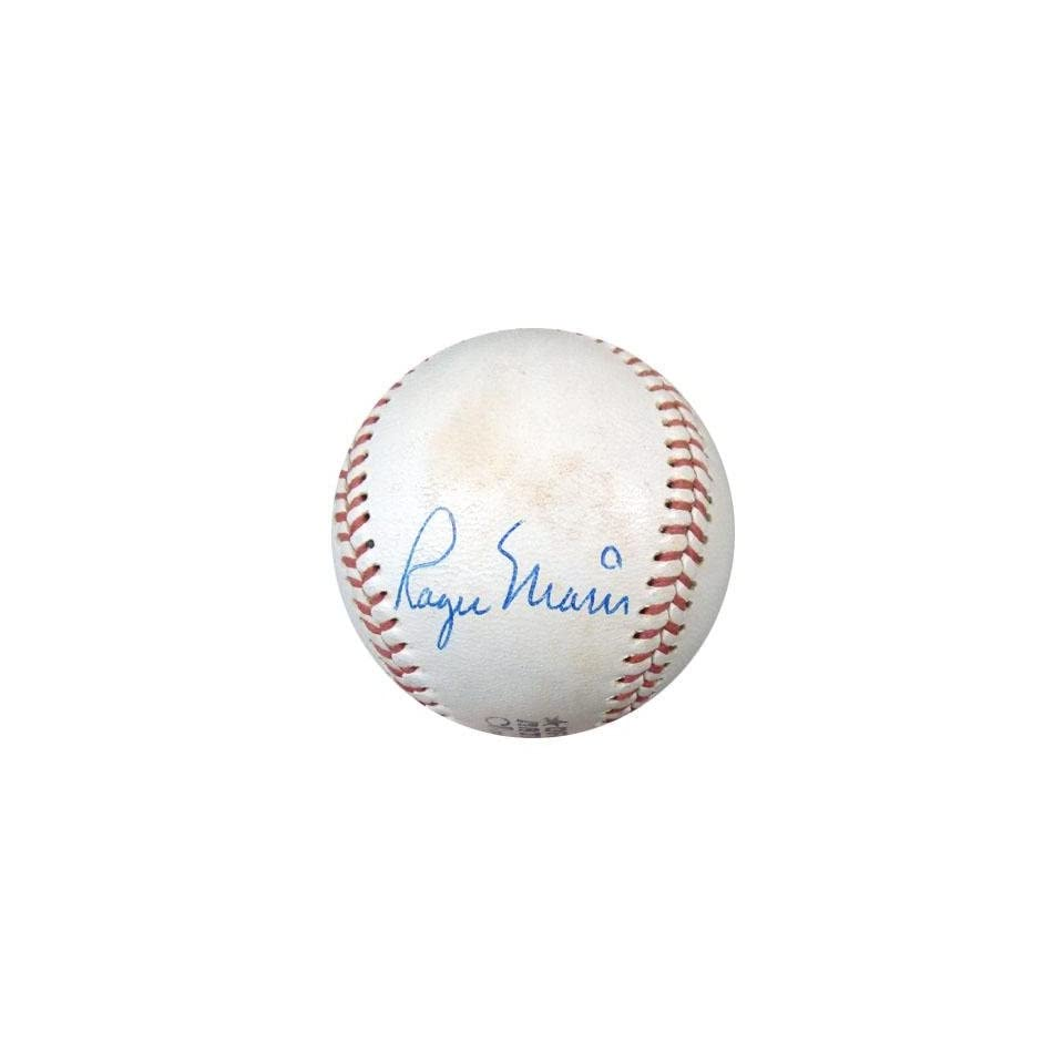 Hank Aaron Signed Baseball   Roger Maris & NL Feeney PSA DNA #M00977   Autographed Baseballs